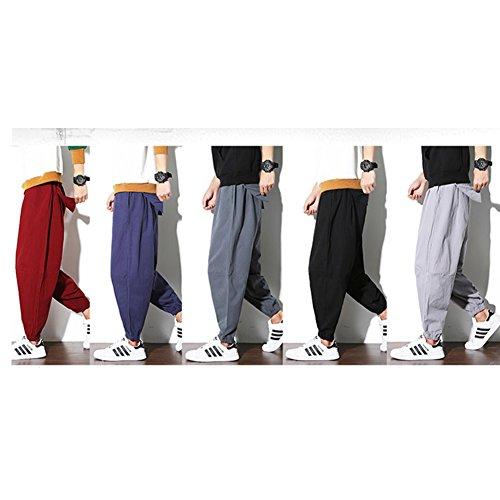 Hombres Para De Casuales a07 2xl Sueltos Chino Tamaño Pantalones Estilo Fancy Pumpkin qaxYnwX