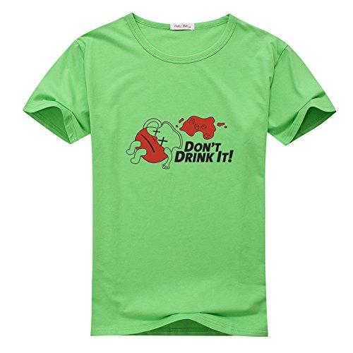 AID for Men Printed Short Sleeve Tee T-shirt (Drink Kool Aid)