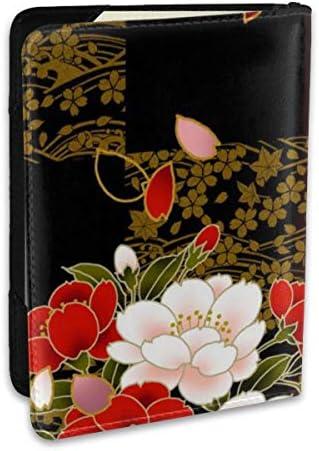 黒 赤 レッド 可愛い 花柄 パスポートケース パスポートカバー メンズ レディース パスポートバッグ ポーチ 収納カバー PUレザー 多機能収納ポケット 収納抜群 携帯便利 海外旅行 出張 クレジットカード 大容量