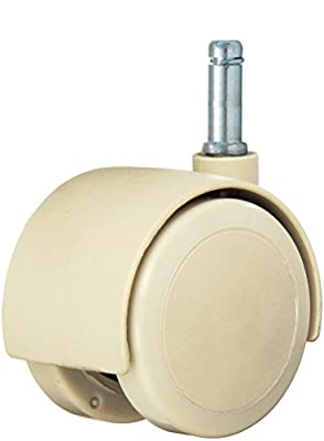 "Twin Wheel Caster Solutions TWHN-50U-G24-TN 2"" Diameter Urethane Wheel Hooded Non-Brake Caster, 7/16"" x 1-3/8"" Grip Ring Stem, 110 lb Capacity Range"