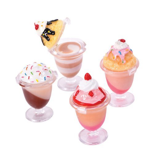 12 Pc Desert Sundae Lipgloss Party Favors