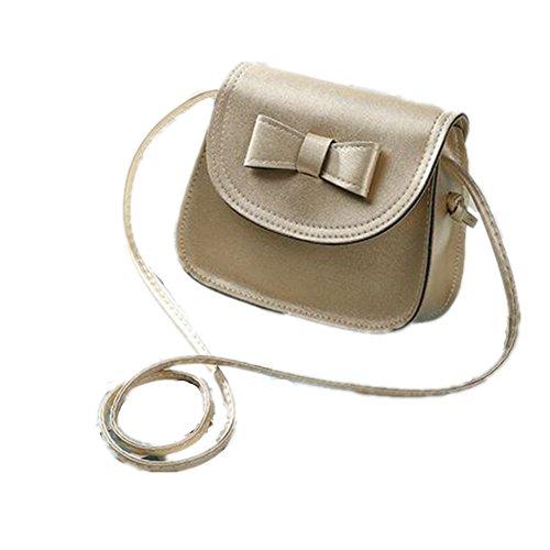 Bags Strap Nodykka Shoulder One PU Gold Purse Clutches Bowknot Leather Handbags Cross Body fAZqrdwA6
