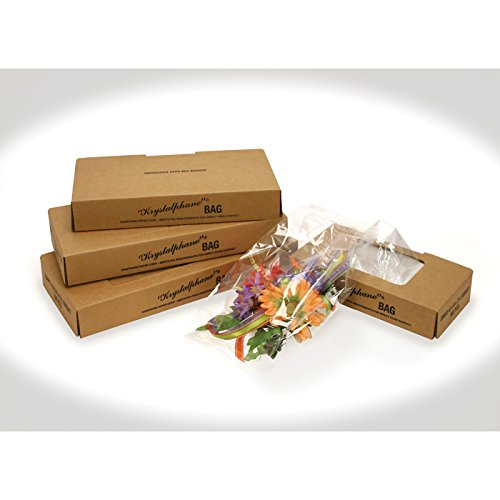 Corsage Bag. 6'' X 3.75'' X 14.75'' - Gusset Sides - Clear - 100 Pk. Food Safe-Meets Fda Requirements for Direct Food Contact.
