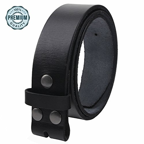 Soft Leather Buckle Belt (NPET Men's Vintage Genuine Leather Belt Soft Strap Belt without Buckle 1.5