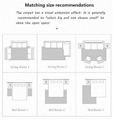 RUNYA Rug Living Room Large Soft Faux Fur Sheepskin Area Rug Modern Shaggy Carpet Brown 2.6ft x 5.2ft