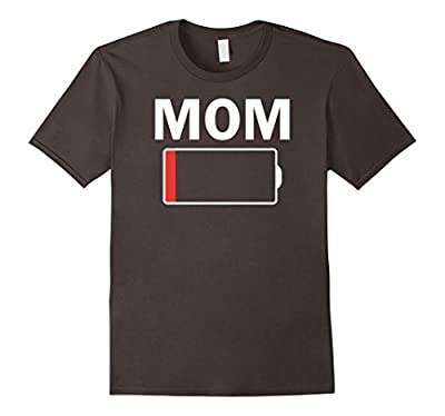 Women's Tired MOM Low Battery T Shirt - Funny Mother's Day