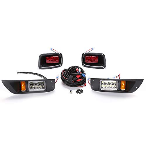 World 9.99 Mall Premium Golf Cart Led Light Kit for EZGO TXT Golf Cart Headlight Taillight 1996-2015 Without Deluxe Light Upgrade Kit ()