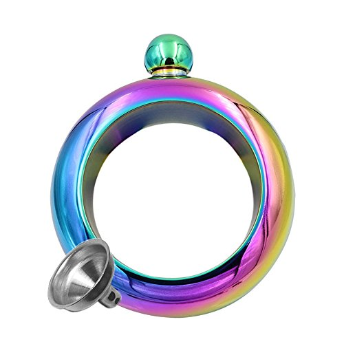 Note : Every rainbow bracelet flask is a very little difference in color. It means it's impossible to have exactly the same shade of color about the rainbow bracelet flask.