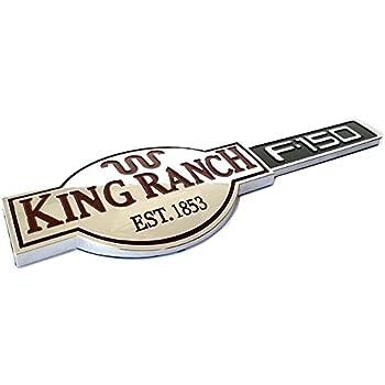 2pcs OEM King Ranch F150 3D Emblems Badges Door Tailgate for F-150 Chrome
