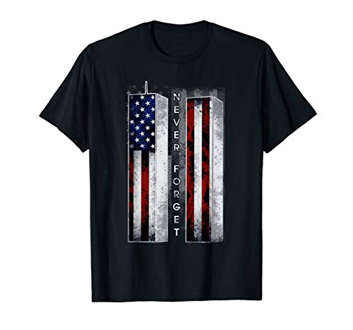 Never Forget Awesome American Flag T-Shirt