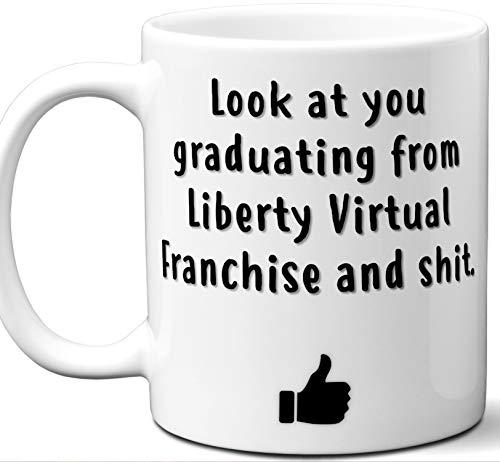 Liberty Virtual Franchise Graduation Gift. Cocoa, Coffee Mug Cup. Student High School Grad Idea Teen Graduates Boys Girls Him Her Class. Funny Congratulations. 11 oz. ()