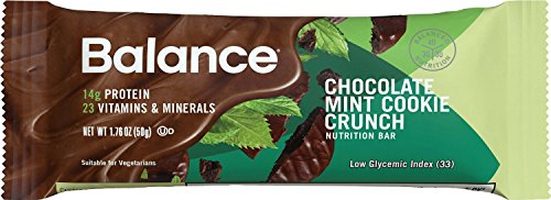 Nutritional Bar Chocolate - Balance Bar Gold, Chocolate Mint Cookie Crunch, 6 Count, 1.76 Ounce Bars (Pack of 6)