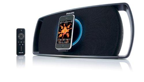 (Philips Revolution Motorized Portable Speaker Dock for iPhone/iPod)