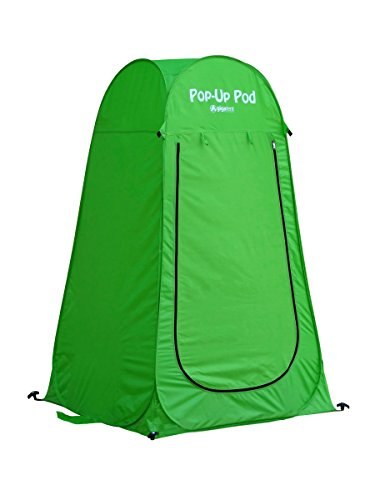 GigaTent Pop Up Pod Changing Room Privacy Tent, Instant Portable Outdoor Shower Tent, Camp Toilet, Rain Shelter for Camping and Beach – Lightweight and Sturdy, Foldable – with Carry Bag (Renewed)