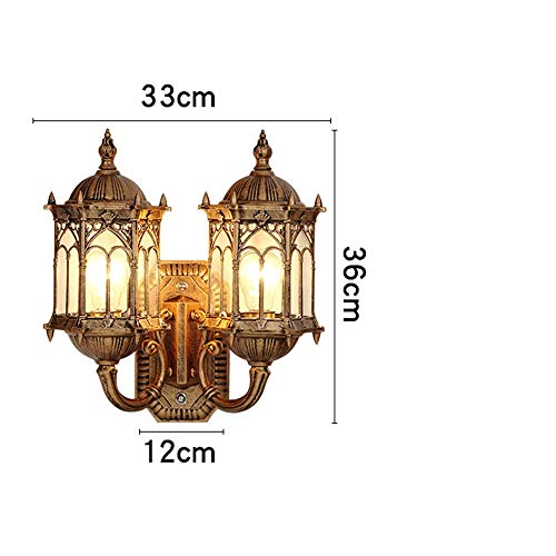 Wall Light Wall Lamp Sconce European Wall Lamp Outdoor Waterproof Wall Hanging Lamp Balcony Lamp Aisle Lights Garden Lights Glass Antique Wall Lamp Exterior Wall Lamp for Bedroom Aisle Living Room