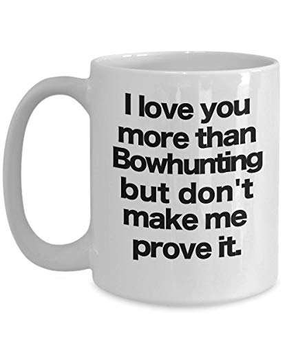 (Bowhunter Mug - White Coffee Cup - Funny Gift for Deer, Turkey, Elk, Hunting)