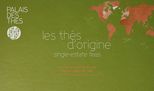 Palais des Thés Single-Estate Teas Indulgence Tea Set with Ten Tubes of Loose Tea, 120g (4.2oz)