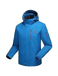 Dnstar Men's Fall Coats Fleece Waterproof Hooded Windproof Jacket