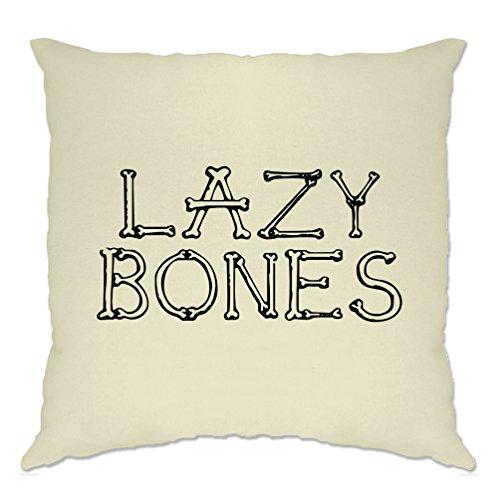 Lazy Bones Slogan Casual Halloween Pun Funny Slogan Cool Cushion (Mens Halloween Costume Ideas Last Minutes)