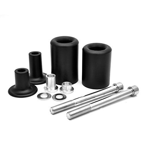 Radracing ZX6R Frame Sliders Crash Protectors Kit for Ninja ZX-6R 2013 2014 2015 2016 2017 Extended Delrin Black