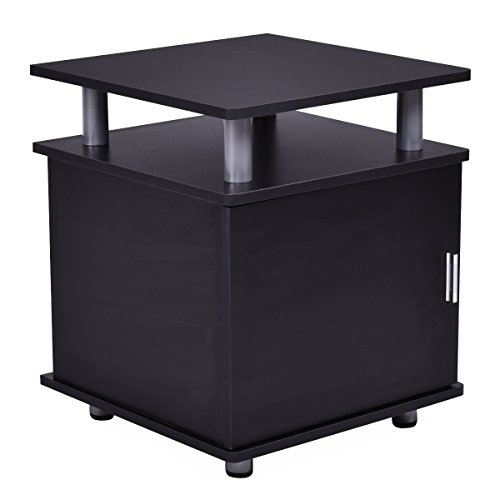 Giantex End Table Nightstand Accent Storage Cabinet Couch Side Living Room Furniture