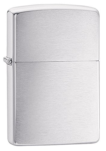 200 X Metal - Zippo Brushed Chrome Pocket Lighter