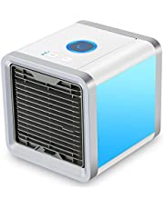 USB Portable Mini Air Conditioner Personal Space Air Cooler 3 in 1 Portable Air Conditioner, Humidifier, Purifier with 7 colorful lights