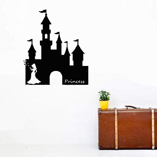 - Decals Wall Stickers Sayings Lettering Room Home Wall Decor Mural Art Great Palace with Beautiful Princess for Bedroom Nursery Kids Room