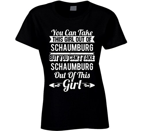 Jokertshirt You Can Take The Girl Out of Schaumburg Illinois But Can't Take The City Out of The Girl T Shirt S - Kids Schaumburg