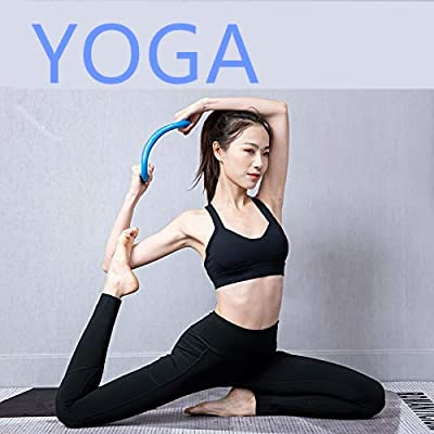 MLAYZ Yoga Circle Fascia Stretch Ring Fitness Ring Pilates Ring Yoga Ring Magic Ring Yoga Supplies (Blue): Toys & Games