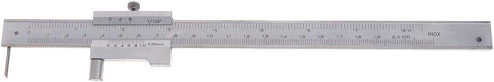 SDENSHI Steel Vernier Calipers Scratch Gauge With Scriber For Measuring And Marking 0-200mm