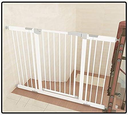 QIANDA Barrera de Seguridad Bebé Puerta de la Escalera Ancho 75-222cm Muro Fijo Metal Extensible Protector De Barrera for Niños Abre A Ambos Lados (Size : 208-215cm): Amazon.es: Hogar