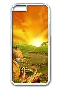 iPhone 6 Plus Case, Thanksgiving 8PC Hard Plastic Case for iPhone 6 Plus 5.5 inch Transparent