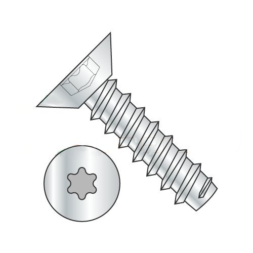 "#10 x 3/8"" Type B Self-Tapping Screws/Six-Lobe (Torx) / Flat Undercut Head/Steel/Zinc (Carton: 10,000 pcs) 4141SbjMEXL"