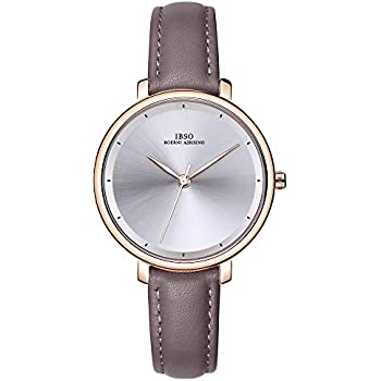 IBSO Ladies Watches Leather Band Round Case Fashion Women Watches on Sale relojes Mujer (6606