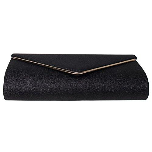 Clutch Party road Evening Envelope FASHIONROAD Clutch Wedding Black Purses Shining Fashion amp; for Handbag Womens BtOqwqd