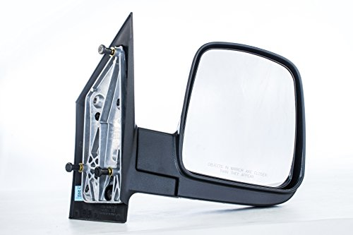 Dependable Direct Right Passenger Side Textured Non-Heated Folding Door Mirror for 03-08 Chevy Express, GMC (Chevy Chevrolet Express 2500 Mirror)