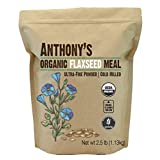 Anthony's Organic Flaxseed Meal, Gluten Free, Ground Ultra Fine Powder, Cold Milled, Keto Friendly, 1.13 Kilogram
