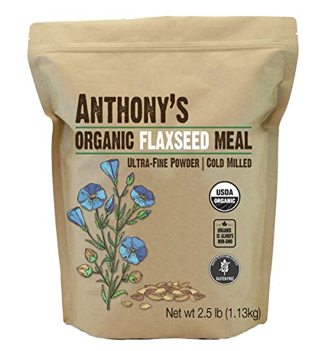 Anthony's Organic Flaxseed Meal, 2.5lb, Gluten Free, Ground Ultra Fine Powder, Cold Milled, Keto Friendly (Best Ground Flaxseed Brand)