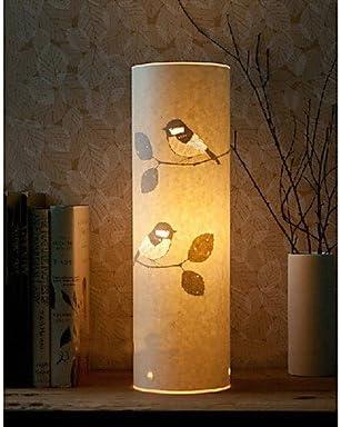 cincin - Lámpara de pie 1 luz estilo rústico pájaro patrón ...