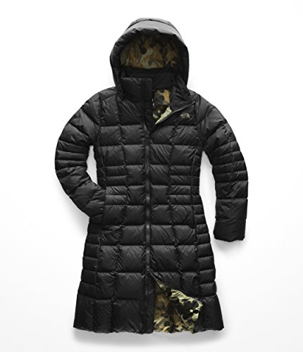 The North Face Women's Metropolis Parka 2 - TNF Black & New Taupe Green Macrofleck Print - S
