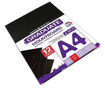 Daler Rowney Black A4 Graduate Mountboard (Pack of 12) Daler Rowney Mount Board