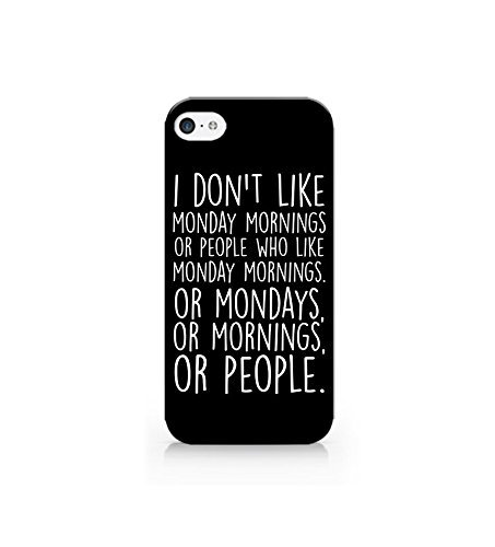 FavorPlus I Don't Like Monday Morning Apple iPhone Custom Case iPhone 6 Plus 5.5 inch Durable Snap on 3D
