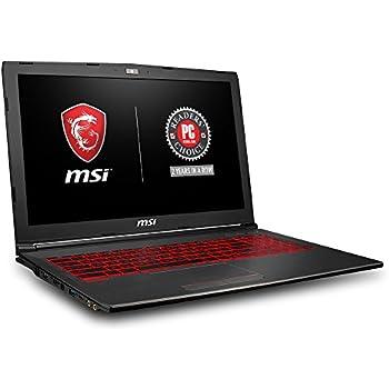 """MSI GV62 8RD-034 15.6"""" Thin and Light Gaming Laptop GTX 1050Ti 4G i7-8750H (6 Cores) 16GB 256GB SSD + 1TB Windows 10 64 bit"""