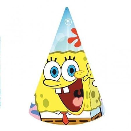 Gorro en cono de cumpleaños de Bob Esponja (6 unidades ...