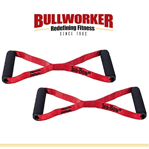 Bullworker Iso-Bow Pro Pair: Isometric Exercise Equipment; Portable Home Fitness Training Strap for Strength and Flexibility Gains, Traveling Stretching Tool for Yoga and Pilates (Does not Stretch)