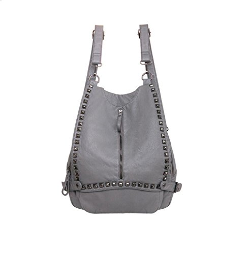 YNIQUE Women's Soft Lampskin Backpacks Soft Leather Shoulder Bag