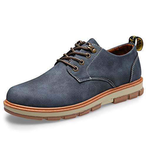 Scarpe Uomini Piattaforma Casual Scarpe Formali Mucca Desertica Mens Oxford Suede Blu Uomo Outdoor O08nxv8