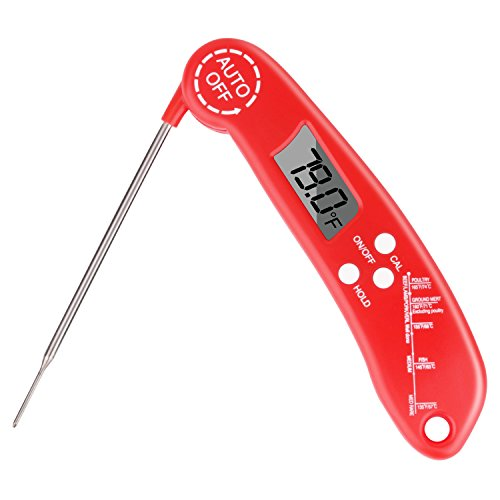 Instant Read Meat Thermometer, Digital Food Thermometer Electronic Cooking Thermometer BBQ Thermometer with Long Probe for Candy, Oven, Kitchen, Barbecue, Grill, Smoker and Baking