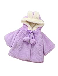 DaySeventh Baby Infant Girls Fur Winter Warm Coat Cloak Jacket Thick Clothes